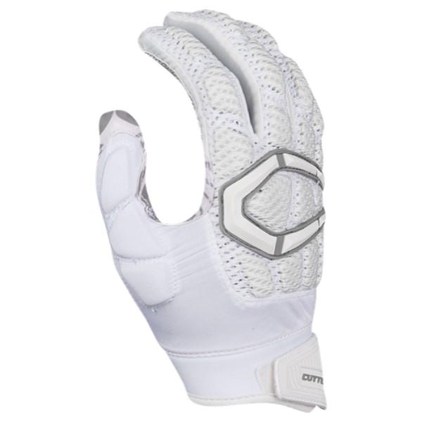 カッターズ メンズ アメリカンフットボール グローブ【Gamer 3.0 Padded Football Gloves】White