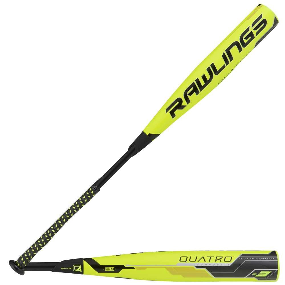 ローリングス メンズ 野球 バット【Quatro BBCOR Baseball Bat】High Visibility Yellow/Black