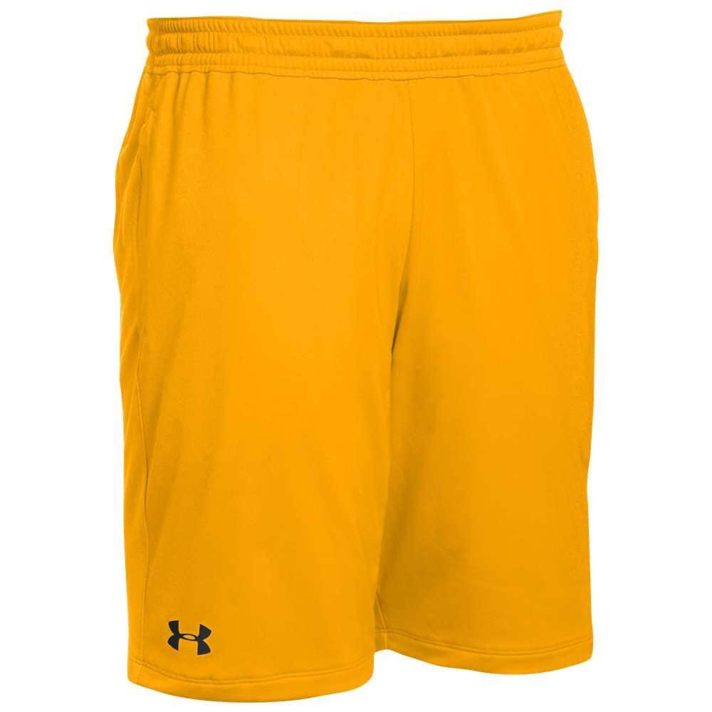 アンダーアーマー メンズ フィットネス・トレーニング ボトムス・パンツ【Team Pocketed Raid Shorts】Steeltown Gold/Black