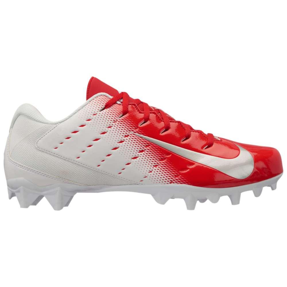 ナイキ メンズ アメリカンフットボール シューズ・靴【Vapor Varsity 3 TD】White/Metallic Silver/University Red/Black