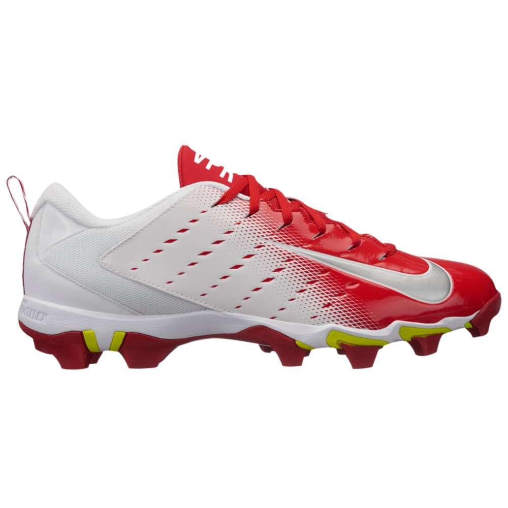 ナイキ メンズ アメリカンフットボール シューズ・靴【Vapor Shark 3】White/Metallic Silver/University Red
