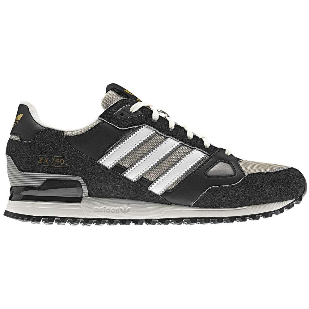 アディダス メンズ フィットネス・トレーニング シューズ・靴【ZXZ 750】Black/Running White/White/Collegiate Silver