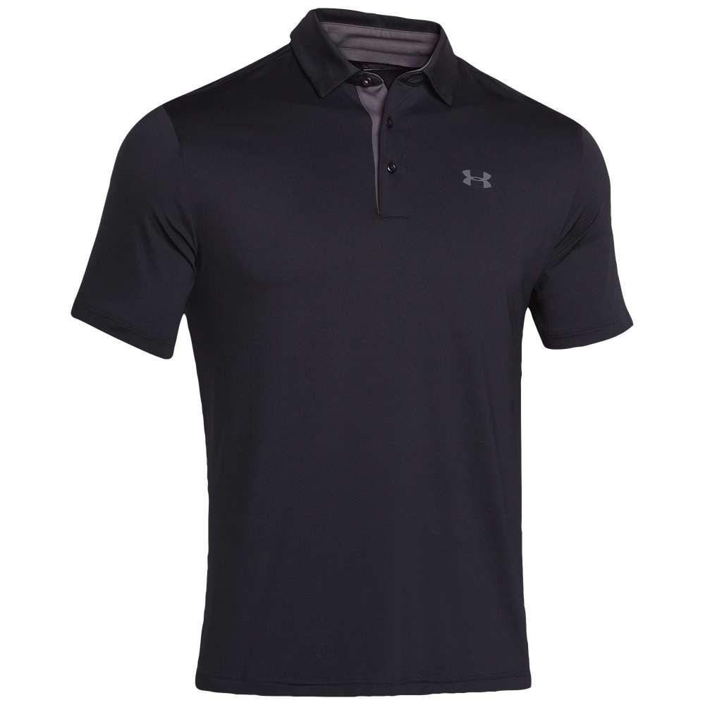 【高い素材】 アンダーアーマー メンズ ゴルフ トップス【Playoff メンズ Golf Polo】Black Golf/Graphite/Graphite, 邑智郡:fe8c5acb --- canoncity.azurewebsites.net