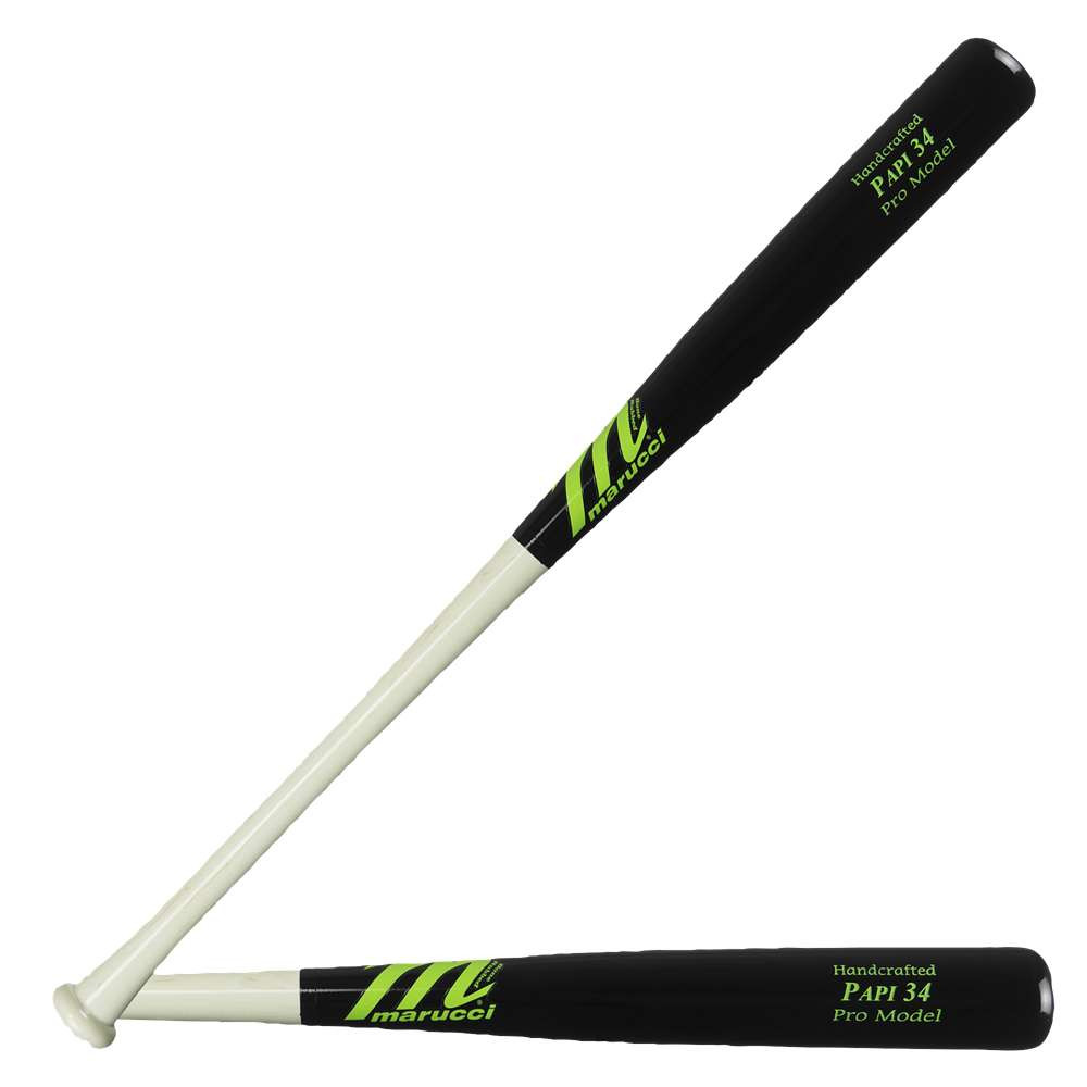 マルッチ メンズ 野球 バット【PAPI34 Pro Maple Baseball Bat】Black/White Wash