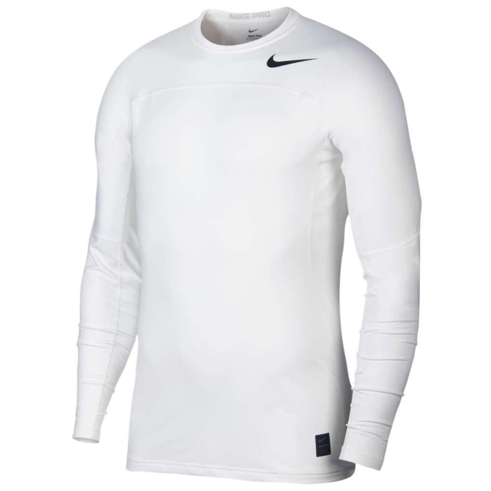 ナイキ メンズ フィットネス・トレーニング トップス【Hyperwarm Fitted Long Sleeve Top】White/Wolf Grey/Black