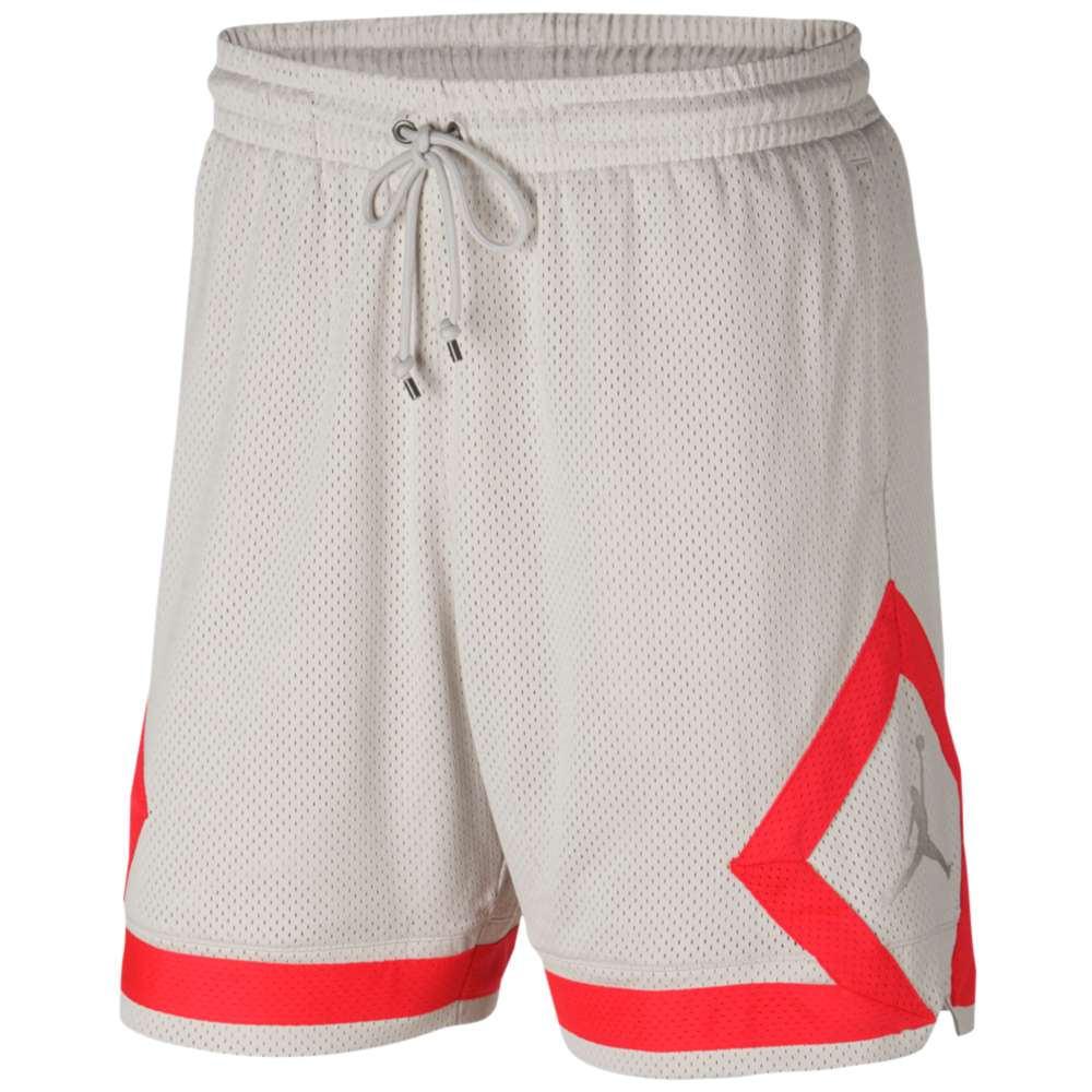 ナイキ ジョーダン メンズ バスケットボール ボトムス・パンツ【Diamond Mesh Shorts】Sand/Infrared