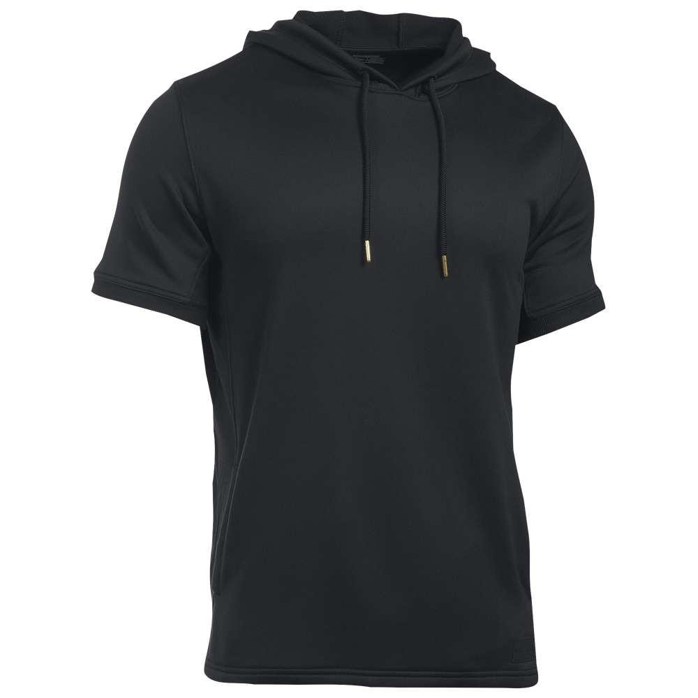 アンダーアーマー メンズ トップス Tシャツ【Pursuit Hooded T-Shirt】Black/Black/Black