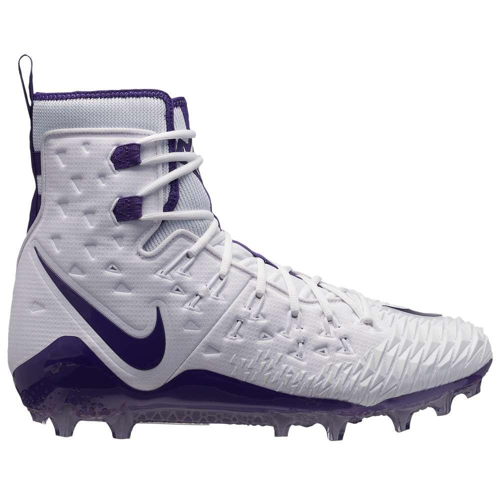 ナイキ メンズ アメリカンフットボール シューズ・靴【Zoom Force Savage Elite TD】White/Purple