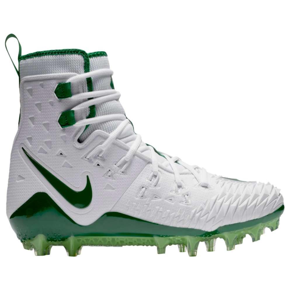 ナイキ メンズ アメリカンフットボール シューズ・靴【Zoom Force Savage Elite TD】White/Pine Green/Rage Green