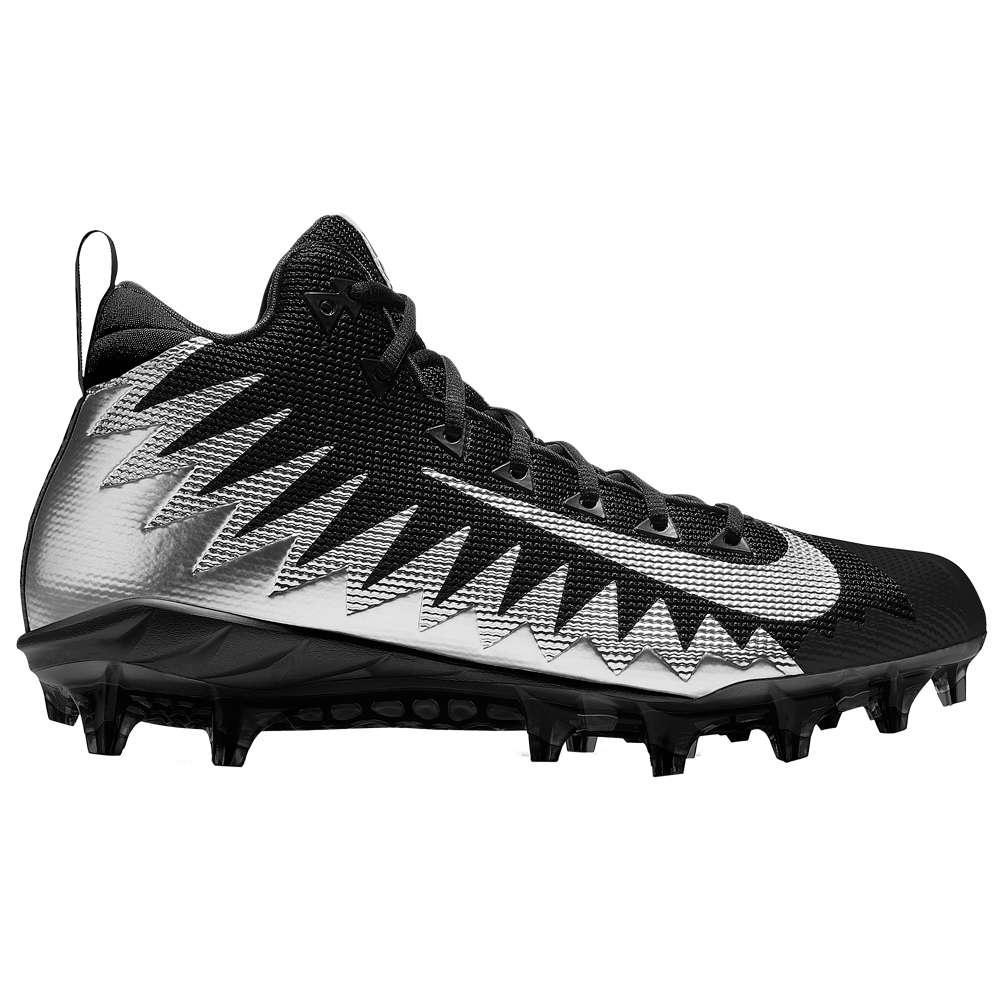 ナイキ メンズ アメリカンフットボール シューズ・靴【Alpha Menace Pro Mid】Black/Metallic Silver/Black