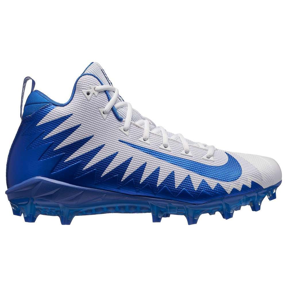 ナイキ メンズ アメリカンフットボール シューズ・靴【Alpha Menace Pro Mid】White/Game Royal/Photo Blue