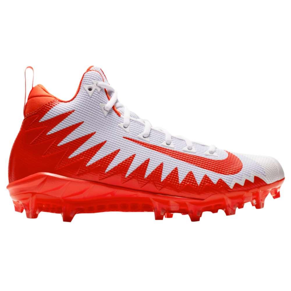 ナイキ メンズ アメリカンフットボール シューズ・靴【Alpha Menace Pro Mid】White/Rush Orange/Hyper Crimson