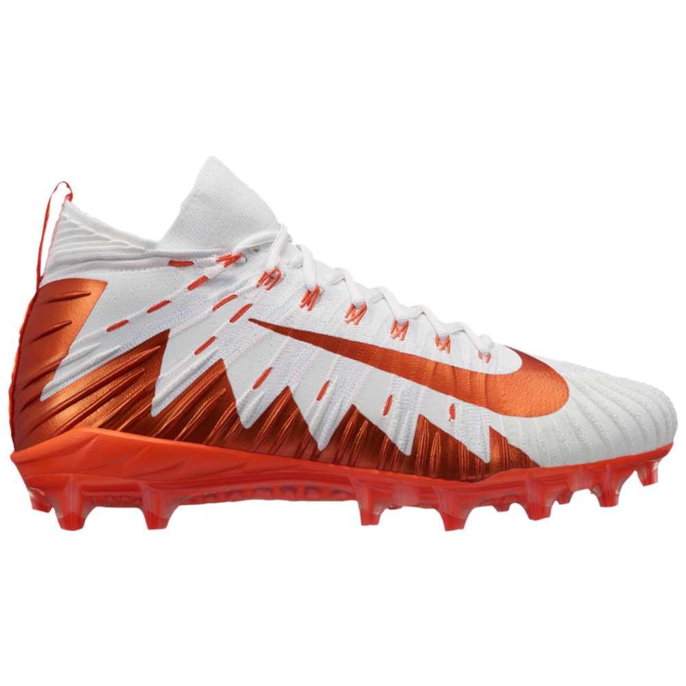 ナイキ メンズ アメリカンフットボール シューズ・靴【Alpha Menace Elite】White/Rush Orange/Hyper Orange/Pure Platinum