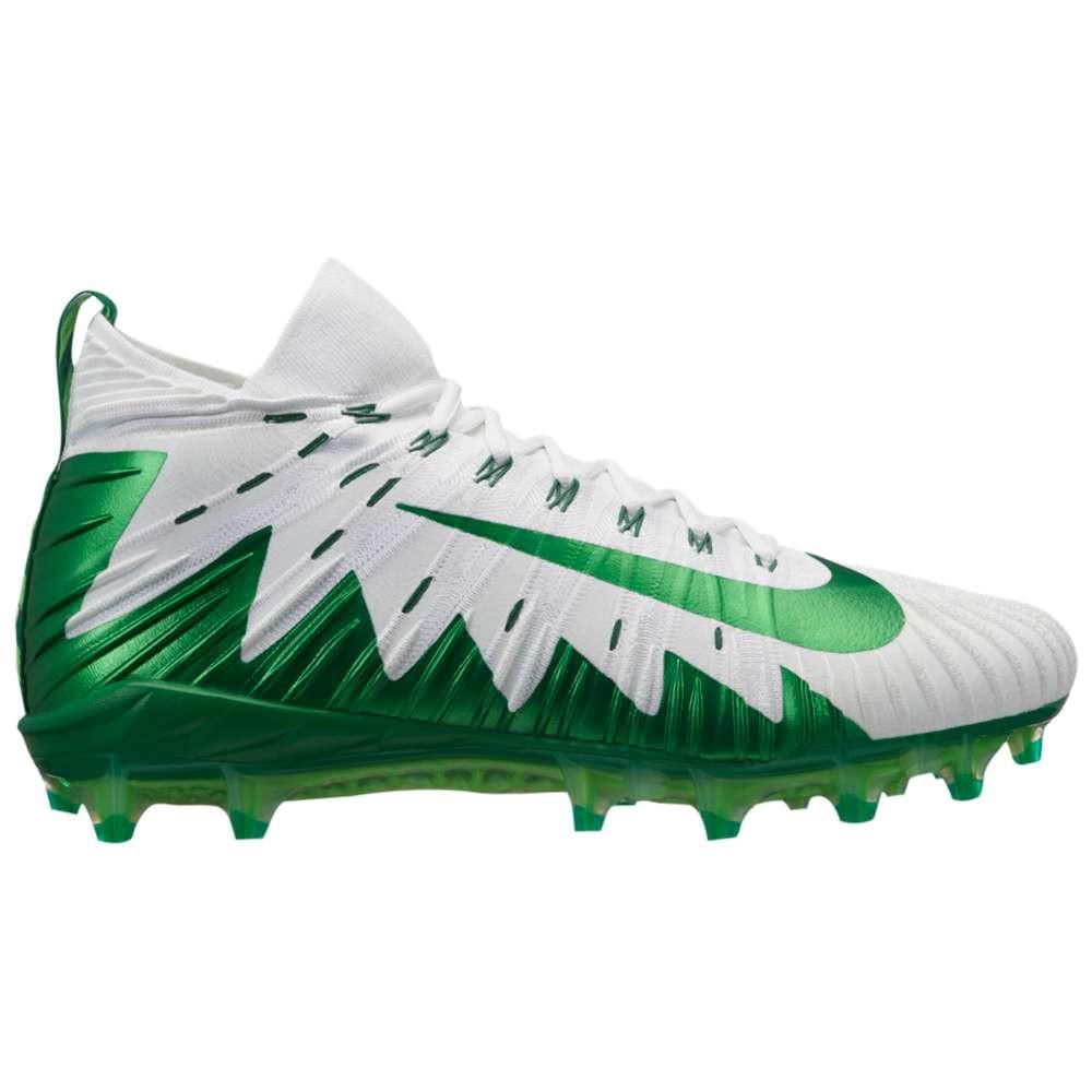 ナイキ メンズ アメリカンフットボール シューズ・靴【Alpha Menace Elite】White/Pine Green/Rage Green/Pure Platinum