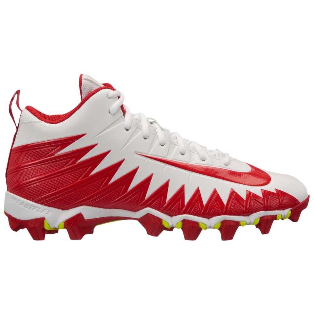 ナイキ メンズ アメリカンフットボール シューズ・靴【Alpha Menace Shark】White/University Red