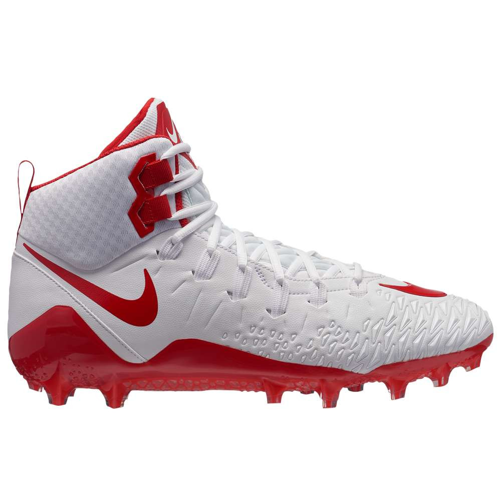 ナイキ メンズ アメリカンフットボール シューズ・靴【Force Savage Pro】White/University Red/University Red/Total Crimson