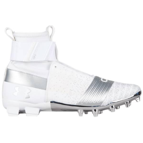 アンダーアーマー メンズ アメリカンフットボール シューズ・靴【C1N MC】White/Metallic Silver