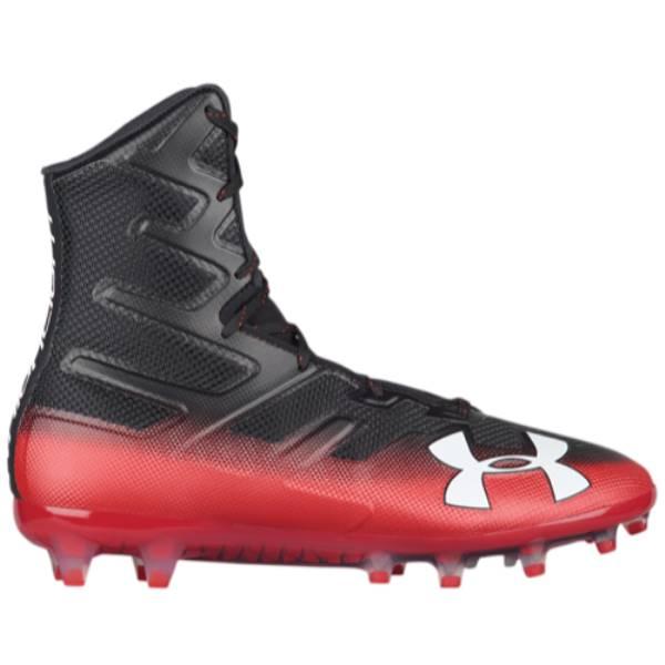 アンダーアーマー メンズ アメリカンフットボール シューズ・靴【Highlight MC】Black/Red