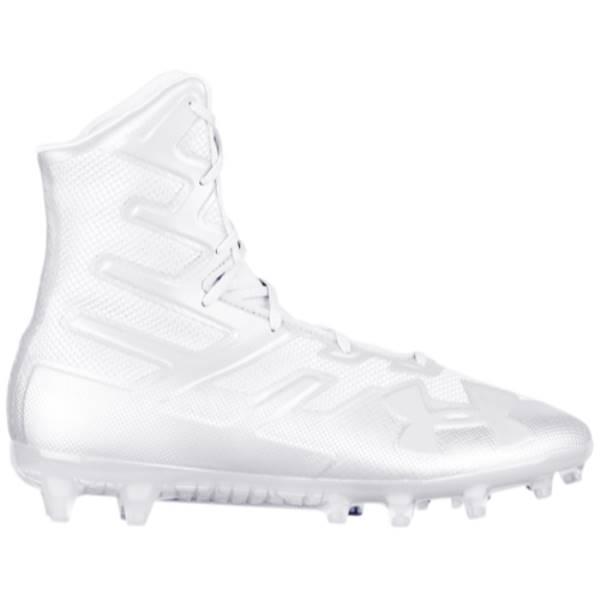 アンダーアーマー メンズ アメリカンフットボール シューズ・靴【Highlight MC】White/White