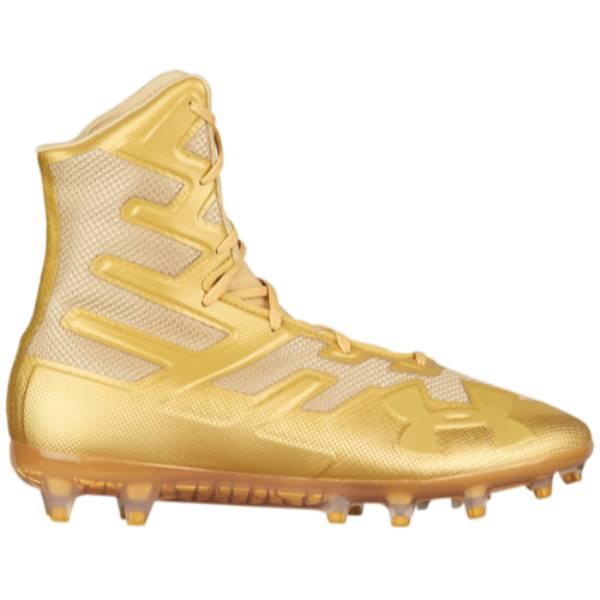 アンダーアーマー メンズ アメリカンフットボール シューズ・靴【Highlight MC】Metallic Gold/Metallic Gold