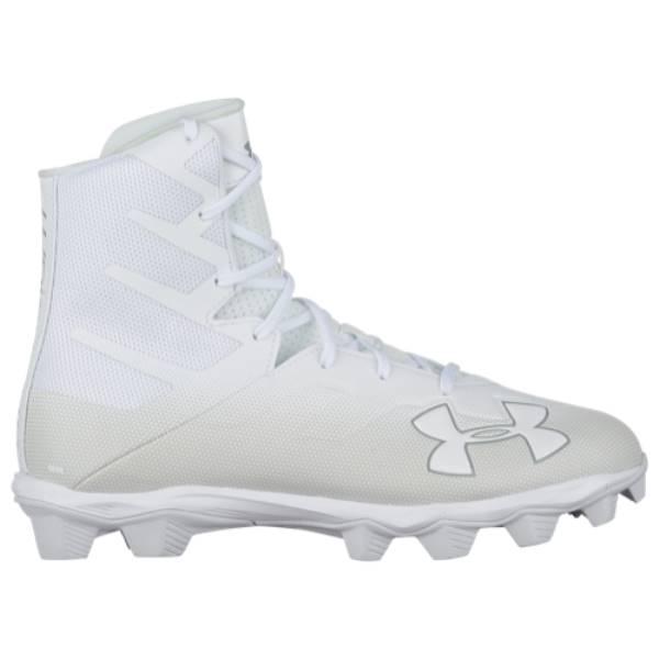 アンダーアーマー メンズ アメリカンフットボール シューズ・靴【Highlight RM】White/White/Metallic Silver