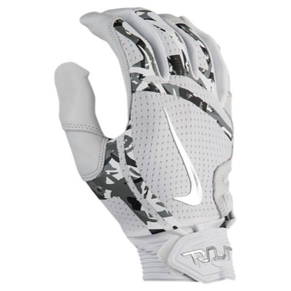 ナイキ メンズ 野球 グローブ【Trout Elite Batting Gloves】White/White/Chrome