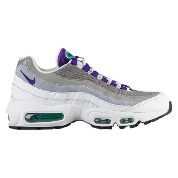 ナイキ レディース ランニング・ウォーキング シューズ・靴【Air Max 95】White/Court Purple/Emerald Green/Lt Charcoal/Black