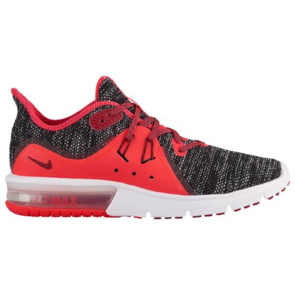 ナイキ レディース ランニング・ウォーキング シューズ・靴【Air Max Sequent 3】Black/Red Crush/White/Red Orbit