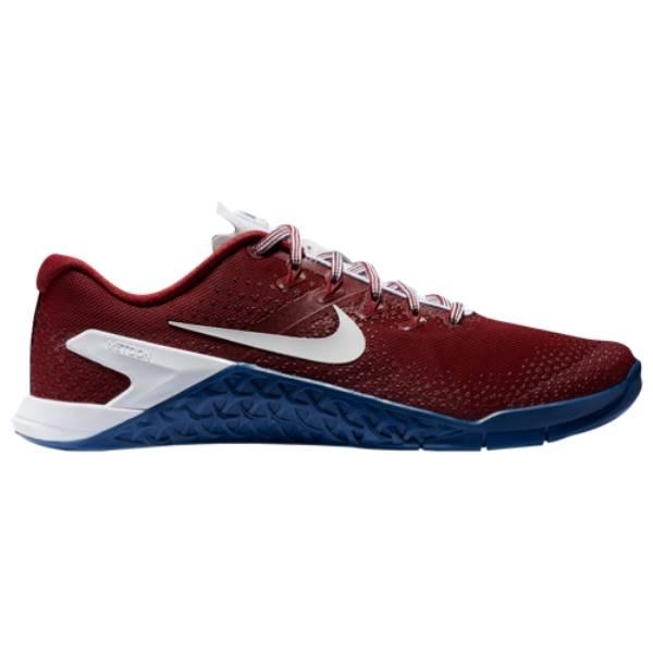 ナイキ メンズ フィットネス・トレーニング シューズ・靴【Metcon 4】Team Red/White/Gym Blue