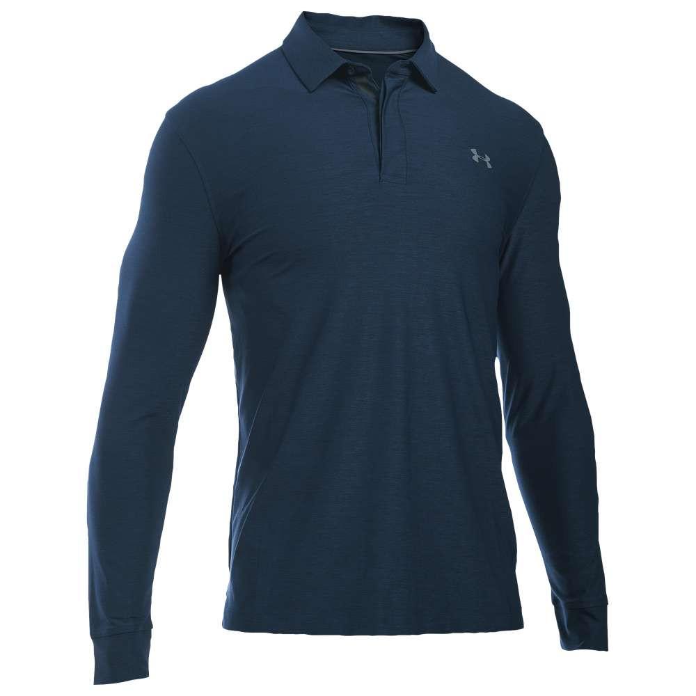 アンダーアーマー メンズ ゴルフ トップス【Long Sleeve Golf Polo】Academy/Graphite/Graphite
