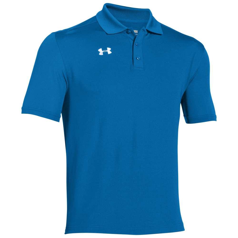 アンダーアーマー メンズ トップス ポロシャツ【Team Armour Polo】Powderkeg Blue/White