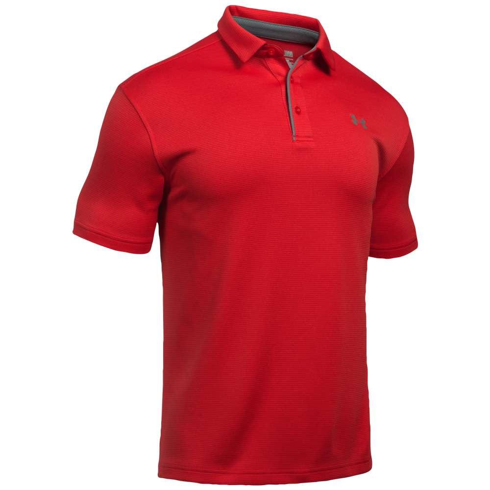 アンダーアーマー メンズ ゴルフ トップス【Tech Golf Polo】Red/Graphite/Graphite