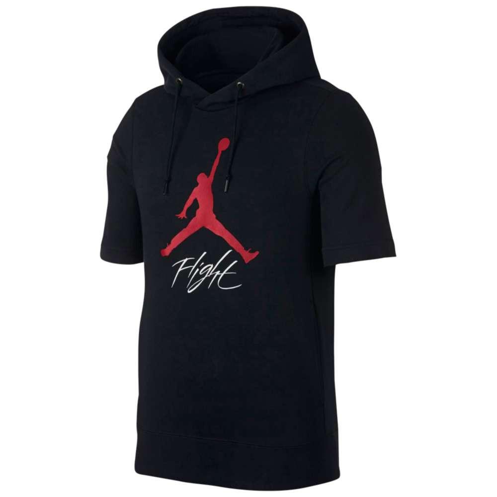 ナイキ ジョーダン メンズ トップス フリース【Jumpman Flight Lightweight Fleece Top】Black/Gym Red