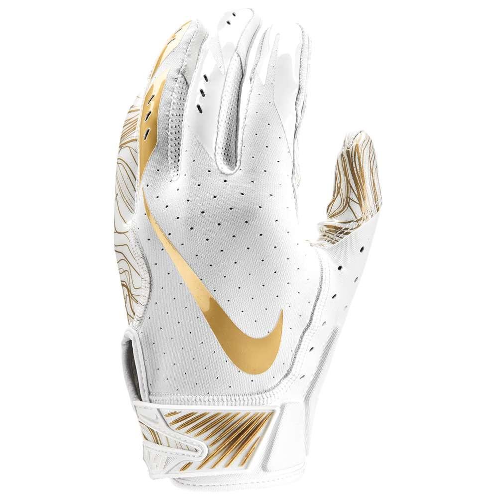 ナイキ メンズ アメリカンフットボール グローブ【Vapor Jet 5.0 Football Gloves】White/White/Metallic Gold