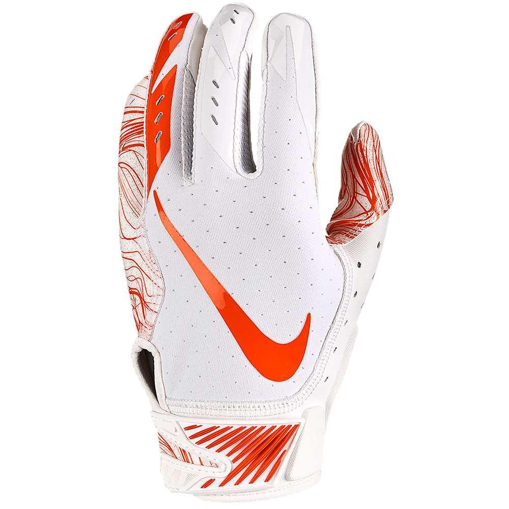 ナイキ メンズ アメリカンフットボール グローブ【Vapor Jet 5.0 Football Gloves】White/White/Team Orange
