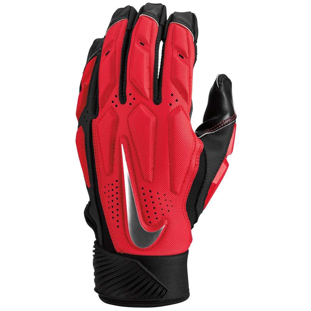 ナイキ メンズ アメリカンフットボール グローブ【D-Tack 6 Lineman Gloves】University Red/White/Chrome