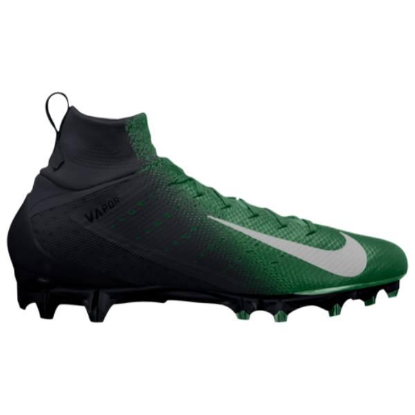 ナイキ メンズ アメリカンフットボール シューズ・靴【Vapor Untouchable Pro 3】Black/Metallic Silver/Pine Green/Rage Green