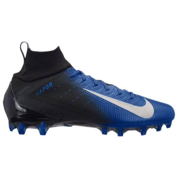 ナイキ メンズ アメリカンフットボール シューズ・靴【Vapor Untouchable Pro 3】Black/Metallic Silver/Game Royal/Photo Blue