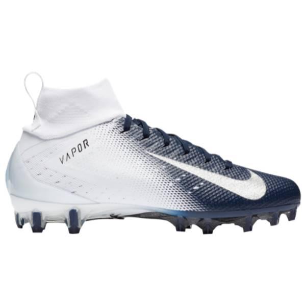 ナイキ メンズ アメリカンフットボール シューズ・靴【Vapor Untouchable Pro 3】White/Metallic Silver/College Navy/Black