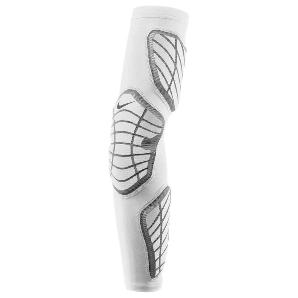 ナイキ メンズ アメリカンフットボール サポーター【Pro Hyperstrong Padded Arm Sleeve】White/Grey/White