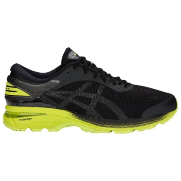 アシックス メンズ ランニング・ウォーキング シューズ・靴【GEL-Kayano 25】Black/Neon Lime