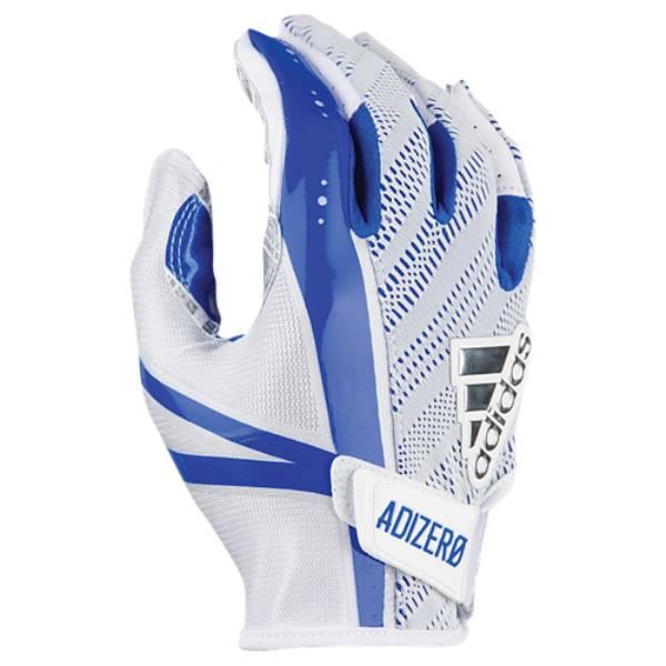 アディダス メンズ アメリカンフットボール グローブ【5-Star 6.0 Receiver Gloves】White/Royal