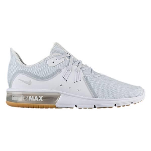 ナイキ メンズ ランニング・ウォーキング シューズ・靴【Air Max Sequent 3】White/Pure Platinum