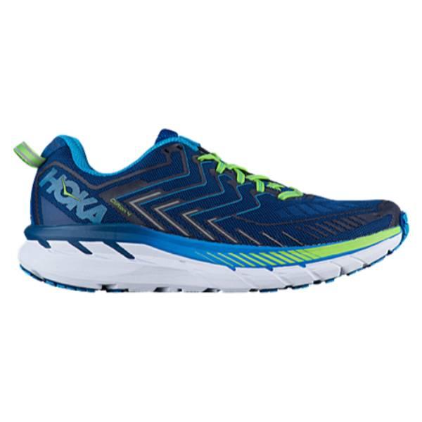 ホカ オネオネ メンズ ランニング・ウォーキング シューズ・靴【Clifton 4】True Blue/Jasmine Green