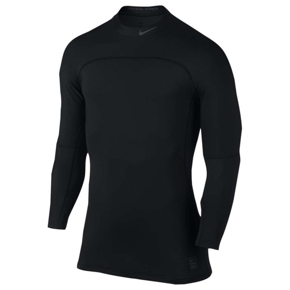 ナイキ メンズ フィットネス・トレーニング トップス【Hyperwarm Fitted Long Sleeve Mock Top】Black/Cool Grey/Cool Grey
