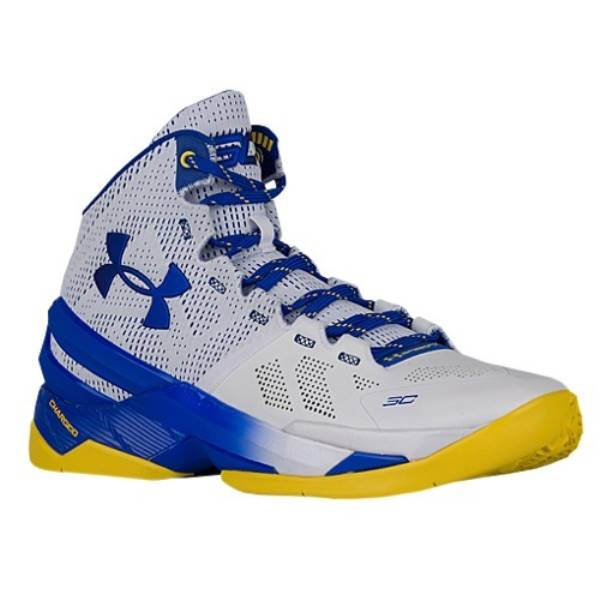 アンダーアーマー メンズ バスケットボール シューズ・靴【Curry Two】White/Team Royal