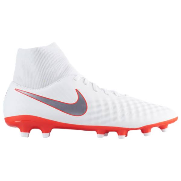 ナイキ メンズ サッカー シューズ・靴【Magista Obra 2 Academy DF FG】White/Chrome/Light Crimson