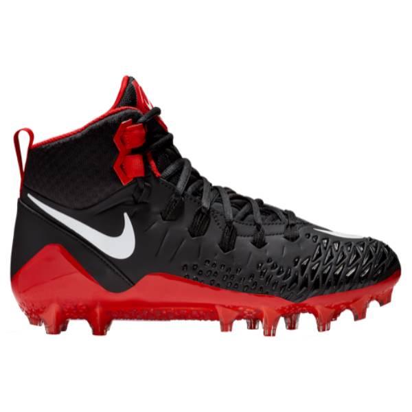 ナイキ メンズ アメリカンフットボール シューズ・靴【Force Savage Pro】Black/University Red/White/Total Crimson