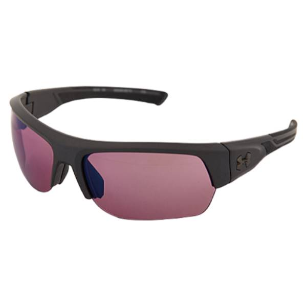 アンダーアーマー ユニセックス スポーツサングラス【Big Shot Sunglasses】Satin Carbon/Black