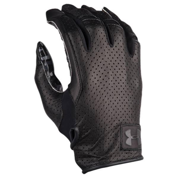 アンダーアーマー メンズ アメリカンフットボール グローブ【Spotlight Lux Football Gloves】Black/Black